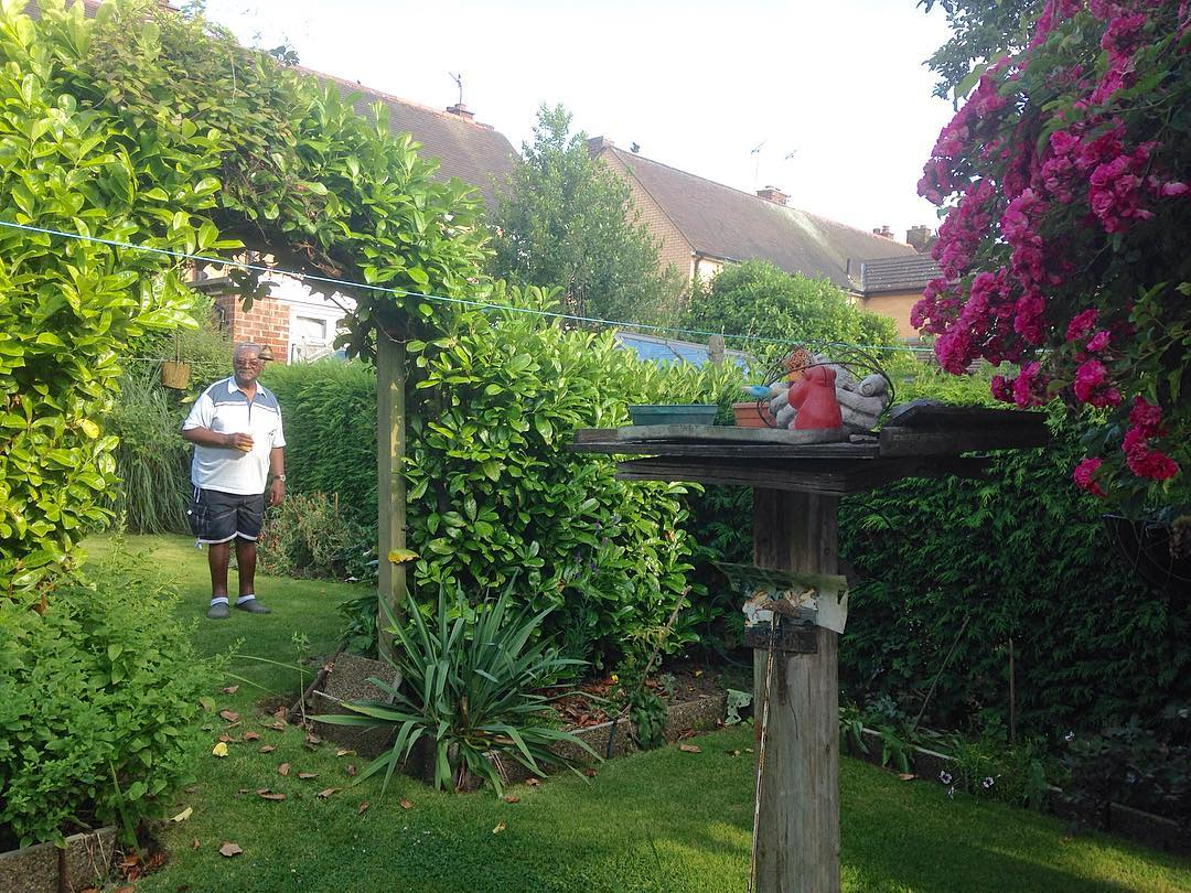 My dear uncle in his garden uncle dadsbrother familytime familyiseverythinghellip