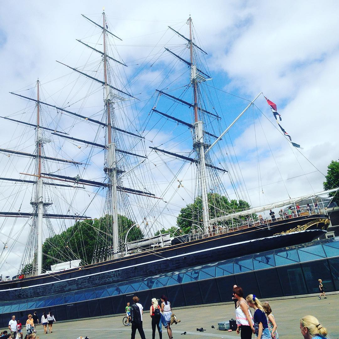 Browsing in the shops and admiring the Cutty Sark onhellip