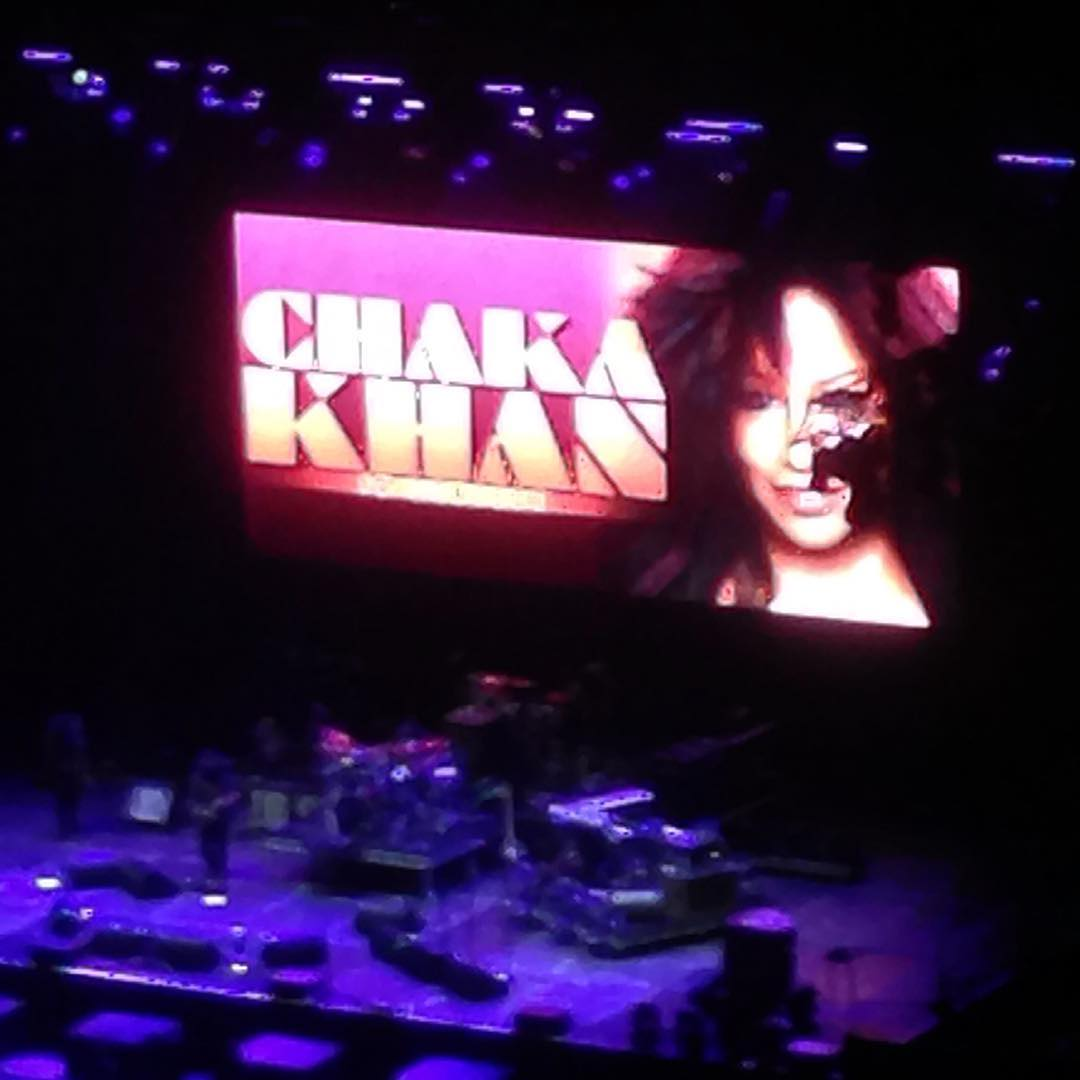 Waiting for Chaka Khan to come on stage bluesfest chakakhan