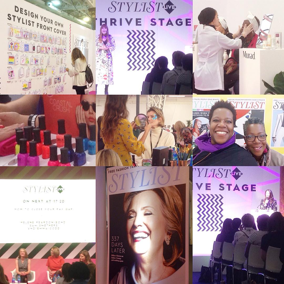 Great day with baby sis carolstewart at Stylist Live stylistmagazinehellip