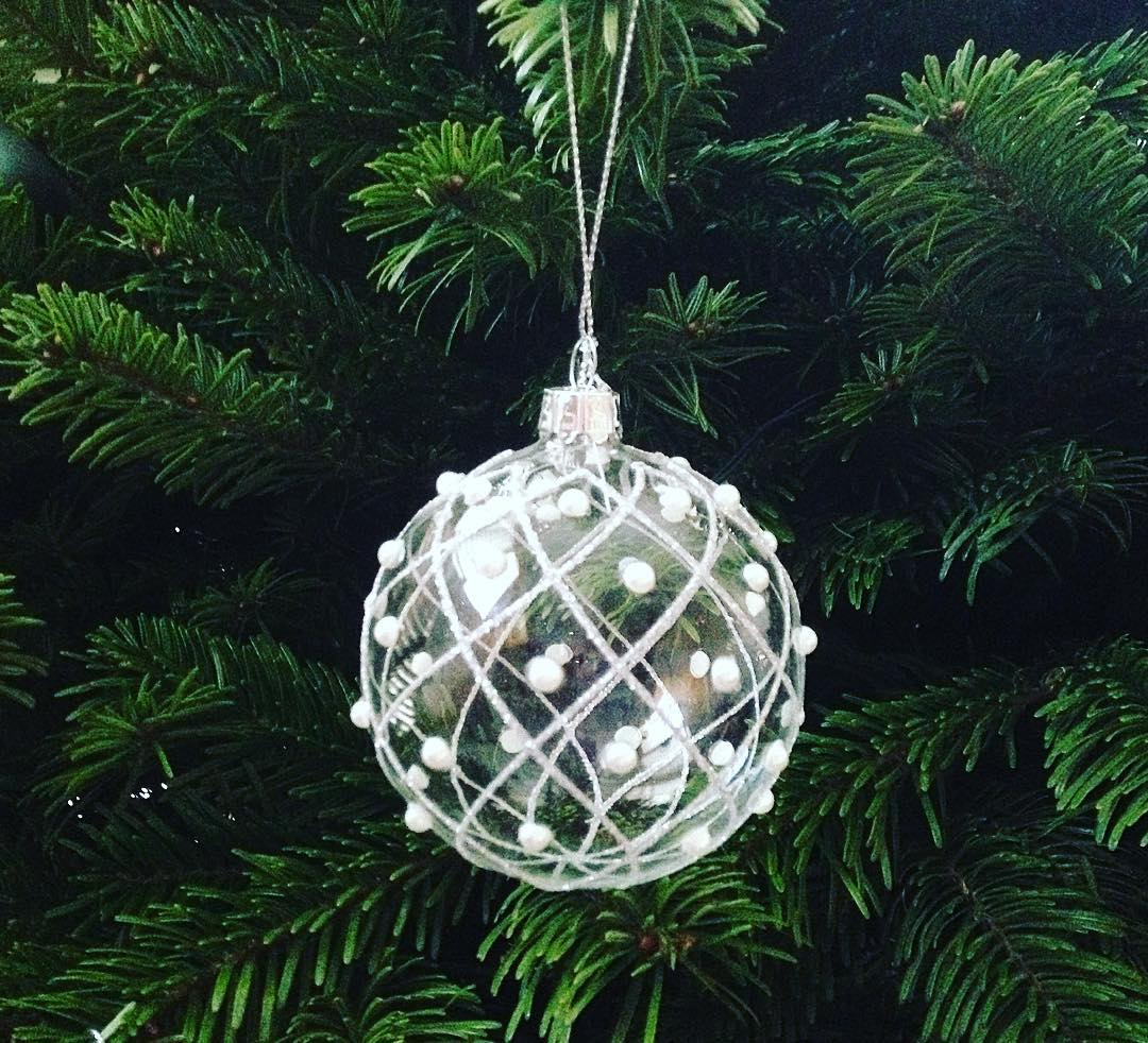 Christmas tree bauble oh and outside yesterdays snow is justhellip
