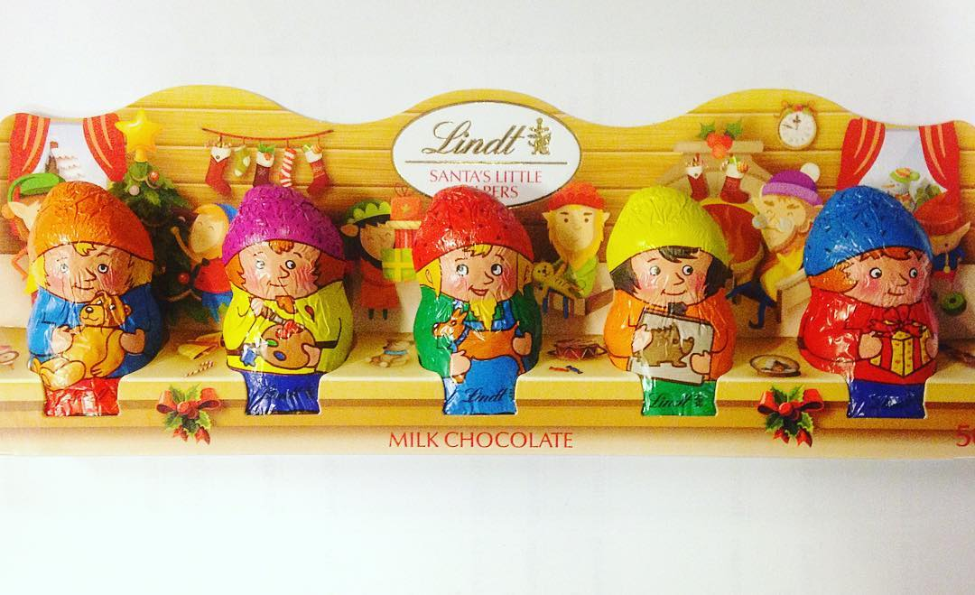 Santas little helpers chocolate christmaschocolate lindtchocolate santaslittlehelpers mychristmascountdown 14thdayofdecember milkchocolatehellip